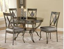 Mystic Black Dinette : Mystic Black Round Glass / Bronze Dinette Table