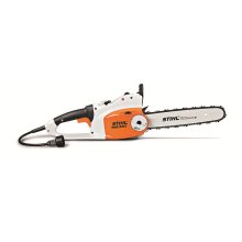 A powerful electric chainsaw with cutting-edge technology.