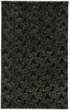 Luxe Shag Artic Black Machine Woven Rugs