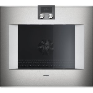 "Gaggenau400 series 400 series oven Stainless steel-backed full glass door Width 30"" (76 cm) Right-hinged Controls on top"