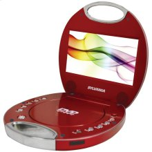 """7"""" Portable DVD Player with Integrated Handle (Red)"""