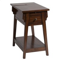 Morris 1-drawer Chairsider In Dark Honey Product Image