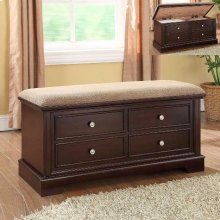 Cedar Seat Bench With Cushion