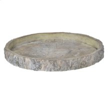 """D13"""" Faux Wood Round Plate"""