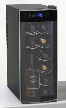 12 Bottle Thermoelectric Counter Top Wine Cooler