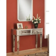 "Mirrored Console with ""Silver"" Wood"