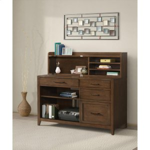 RiversideVogue - Computer Credenza - Plymouth Brown Oak Finish