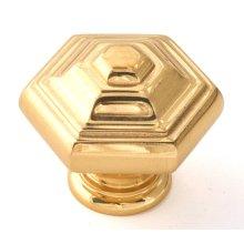 Geometric Knob A1530 - Polished Brass
