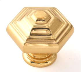 Geometric Knob A1530 - Polished Brass