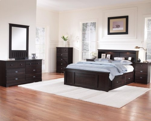2-Drawer Mates Bed Assembly- FULL (1 box, hdbd NOT included)