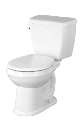 "White Avalanche® 1.28 Gpf 10"" Rough-in Two-piece Round Front Toilet"