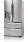 4-Door French Door Refrigerator with Ice and Water Dispenser (25 cu.ft.; Stainless Steel)