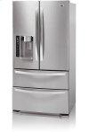 4-Door French Door Refrigerator with Ice and Water Dispenser (25 cu.ft.; Stainless Steel)