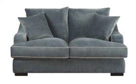 Emerald Home Caresse Loveseat W/2 Pillows Marine Dark Brown Legs U3174-01-08
