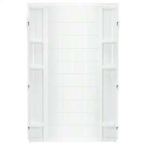 """Ensemble™ 36, Series 7210, 36"""" x 72-1/2"""" Tile Alcove Shower - Back Wall - White Product Image"""
