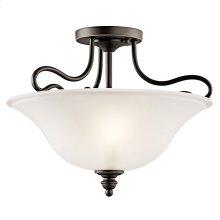 Tanglewood 2 Light Semi Flush with LED Bulbs Olde Bronze®