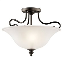 Tanglewood 2 Light Semi Flush with LED Bulbs Olde Bronze®