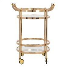 Sienna 2 Tier Round Bar Cart - Gold