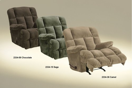 """Power Chaise Recl w/""""Lay Flat"""" Feature - Sage"""