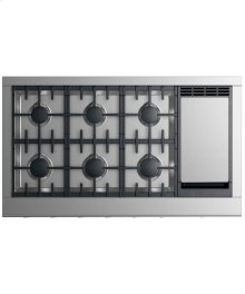 "Gas Cooktop 48"", 6 burners with griddle"
