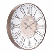 Hora Mundial Clock Antique Silver Product Image