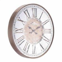 Hora Mundial Clock Antique Silver