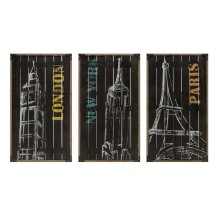 City Chalk Art Decor - Ast 3