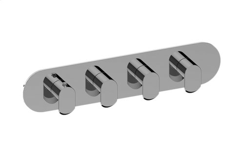 Phase M-Series Valve Horizontal Trim with Four Handles