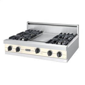 "Biscuit 36"" Sealed Burner Rangetop - VGRT (36"" wide, four burners 12"" wide griddle/simmer plate)"