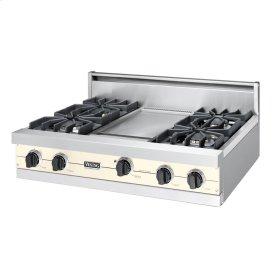 """Biscuit 36"""" Sealed Burner Rangetop - VGRT (36"""" wide, four burners 12"""" wide griddle/simmer plate)"""