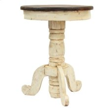 """White : 23"""" x 32"""" Reception End Table"""