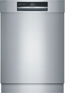 """Benchmark® 24"""" Recessed Handle Dishwasher SHE89PW75N Stainless steel"""