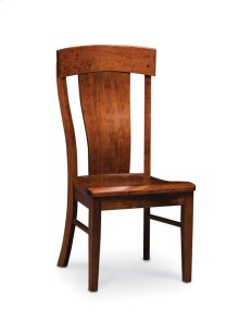 Harlow Side Chair, Leather Cushion Seat