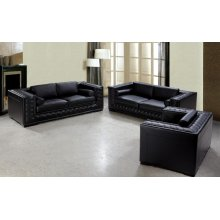 Divani Casa Dublin - Modern Tufted Leather Sofa Set