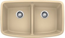 Blanco Valea® Equal Double Bowl With Low-divide - Biscotti