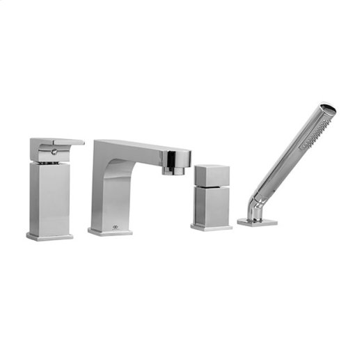 Equility Deck Mount Bathtub Faucet with Hand Shower - Polished Chrome