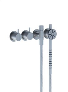 One-handle build-in mixer with ceramic disc technology and diverter - Grey