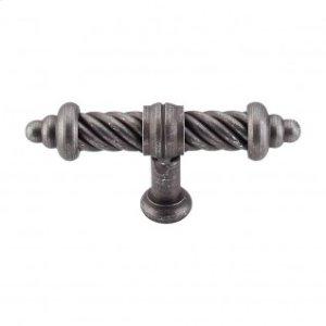 T-Shaped Twist Knob 3 5/8 Inch - Pewter