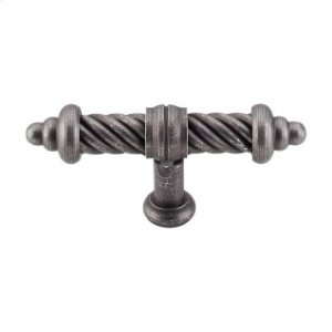 T-Shaped Twist Knob 3 5/8 Inch - Pewter