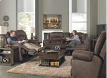 Reclining Console Loveseat w/Stor & Cuphol - Sable