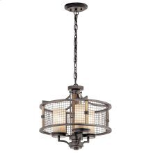 Ahrendale 3 Light Convertible Chandelier Anvil Iron