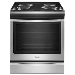 6.2 cu. ft. Front-Control Electric Range with AccuBake(R) System - STAINLESS STEEL