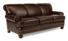 Bay Bridge Leather Sofa with Nailhead Trim