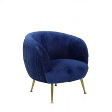 Chair 79x75x75 cm TILTON velvet blue+gold