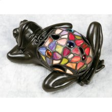 Lounging Frog Accent Lamp in Vintage Bronze