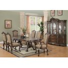 Andrea Traditional Brown Cherry Seven-piece Dining Set Product Image