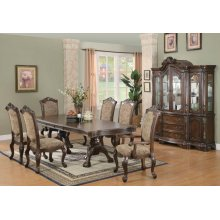 Andrea Traditional Brown Cherry Seven-piece Dining Set