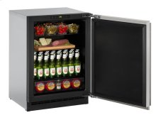 "2000 Series 24"" Solid Door Refrigerator With Stainless Solid Finish and Field Reversible Door Swing"