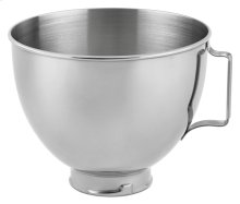 4.5-Qt. Polished Stainless Steel Bowl with Handle - White