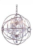 1130 Geneva Collection Pendent Lamp Polished Nickel Finish Product Image